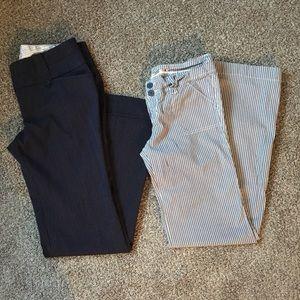 BUNDLE: navy/ white dress pants